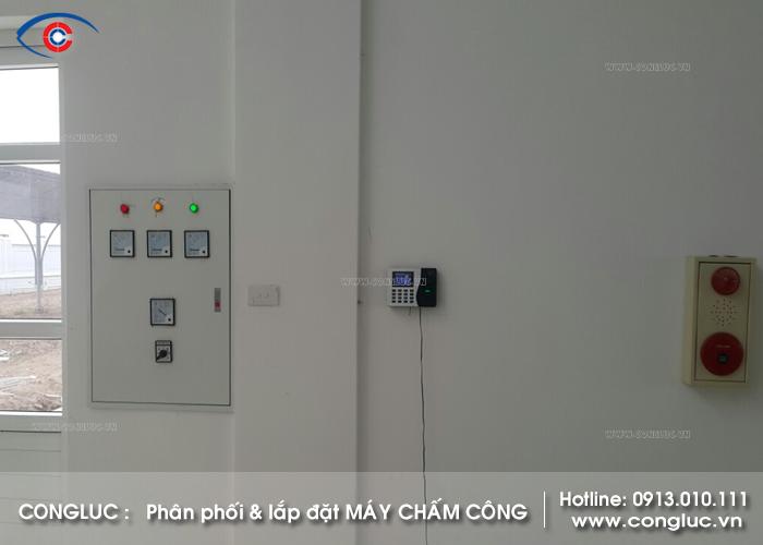Lắp máy chấm công trạm PK77 đường Cao Tốc 5B Hà Nội Hải Phòng