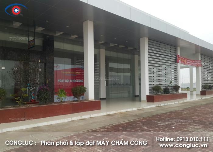 Lắp máy chấm công vân tay tại trạm dừng nghỉ PK77 đường Cao Tốc Hà Nội Hải Phòng