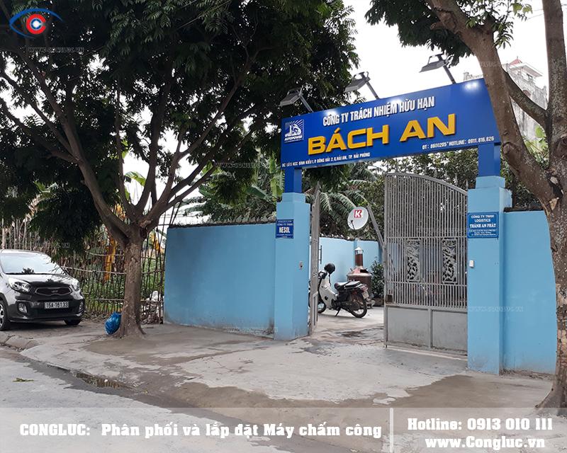 Lắp máy chấm công cho công ty Bách An tại Quận Hải An