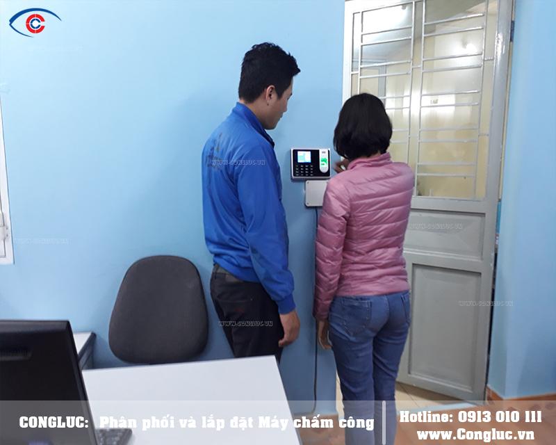 Lắp máy chấm công tại Quận Hải An cho công ty Bách An