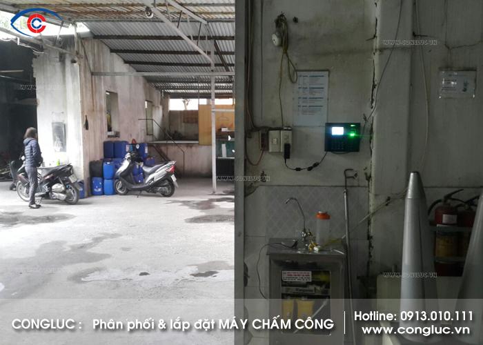Lắp đặt máy chấm công công ty giặt là Phú Sỹ Hải Phòng