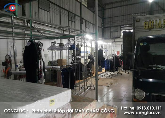 Lắp máy chấm công công ty giặt là Phú Sỹ tại Sở Dầu Hải Phòng