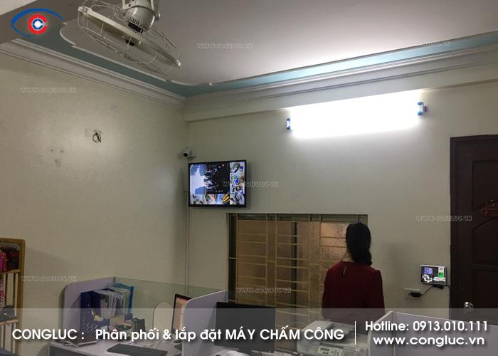 Lắp máy chấm công tại Thiên Lôi Lê Chân Hải Phòng cửa hàng tp an toàn vi sinh