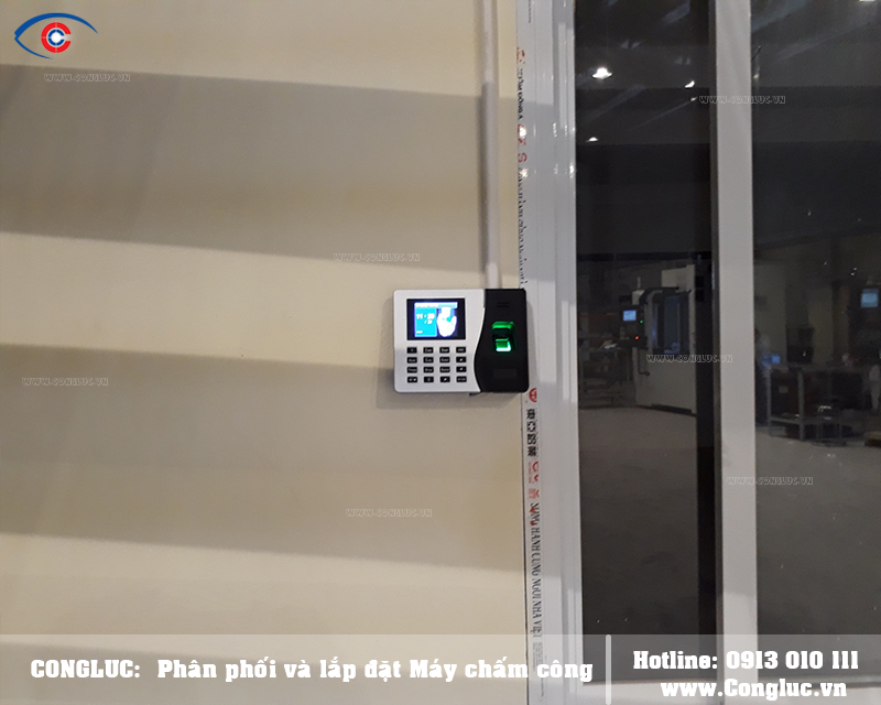 Lắp đặt máy chấm công tại An Dương cho công ty HPTECH