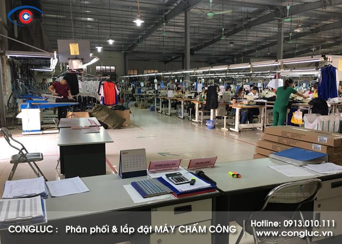 Lắp đặt máy chấm công cho xưởng may Comtec tại Tiên Lãng Hải Phòng