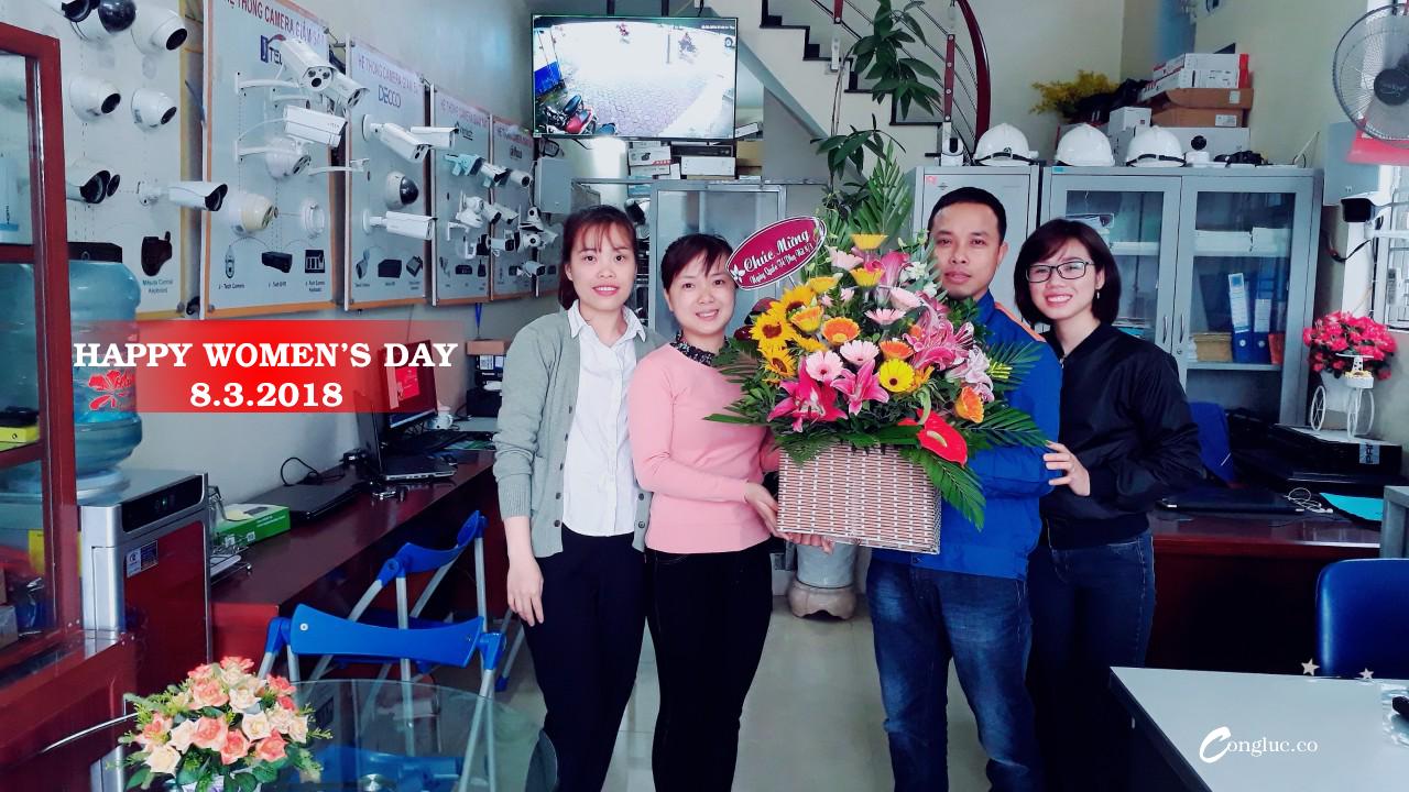 Công ty Cộng Lực chúc mừng Quốc Tế Phụ Nữ 8.3