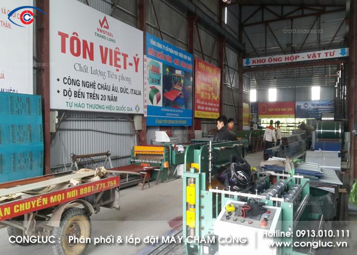 Lắp máy chấm công vân tay tại xưởng tôn Vina Vĩnh Bảo