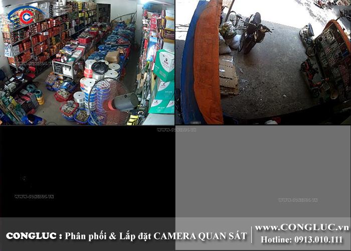 Lắp camera quan sát cho cửa hàng tại Chợ Sắt Hải Phòng