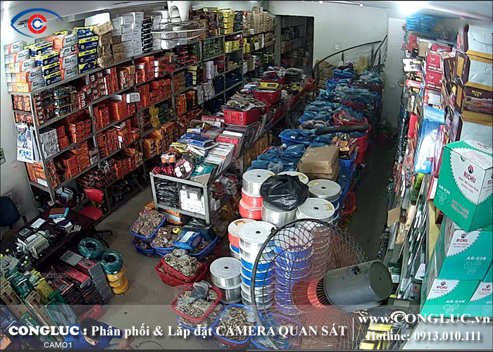Lắp đặt camera quan sát cửa hàng tại chợ Sắt Hải Phòng