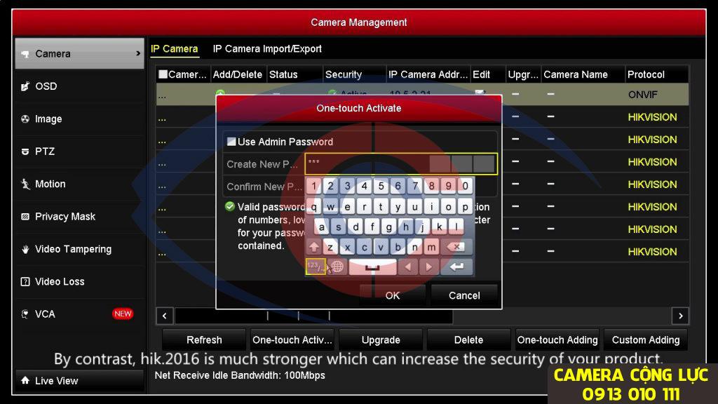 đổi mật khẩu đầu ghi hình hikvision