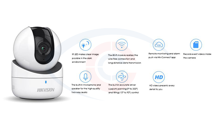 Bán camera ip wifi hikvision DS-2CV2Q01EFD-IW giá rẻ Hải Phòng