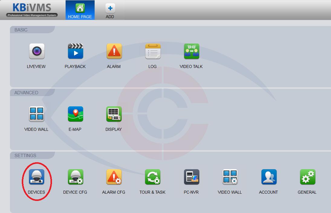 Giao diện phần mềm KBiVMS xem camera KBvision