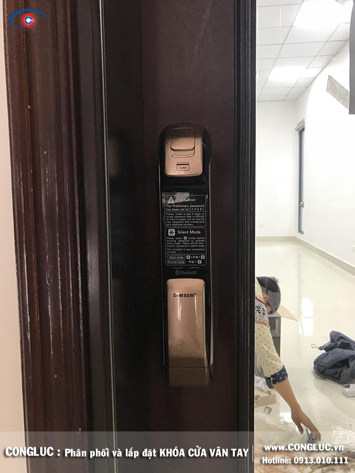 Lắp khóa vân tay Samsung tại Công ty Sao Đỏ Hải Phòng