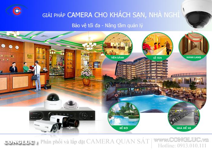 Giải pháp lắp đặt camera giám sát an ninh cho khách sạn nhà nghỉ