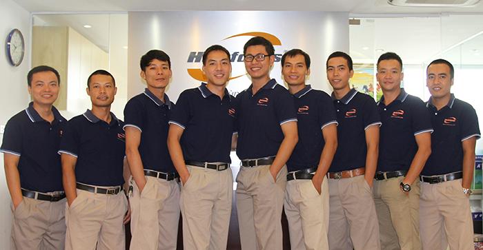 Lắp máy chấm công tại công ty thực phẩm Hoàng Lâm Holafoods