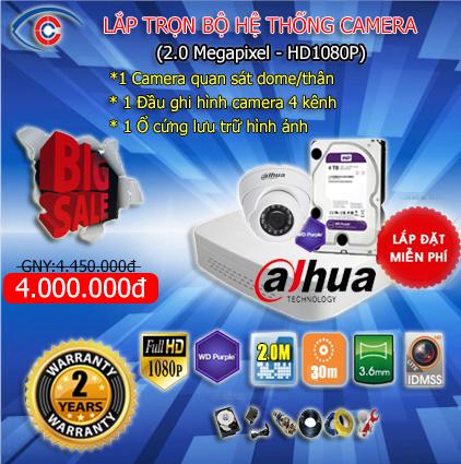 khuyến mại lắp trọn gói hệ thống camera quan sát trọn gói 2-9