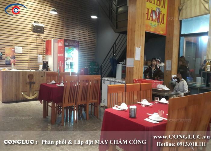 lắp đặt máy chấm công tại Quảng Ninh nhà hàng Kong Hải Sản
