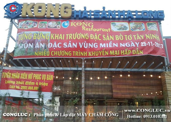 Lắp máy chấm công cho nhà hàng Kong Hải sản Hạ Long
