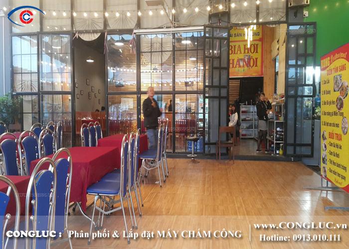 Lắp máy chấm công tại Quảng Ninh nhà hàng Kong Hải Sản