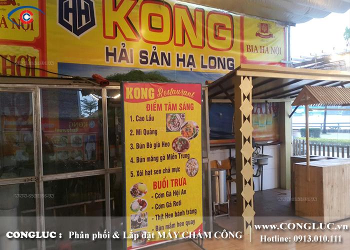 Lắp máy chấm công tại Hạ Long Quảng Ninh nhà hàng Kong Hải Sản