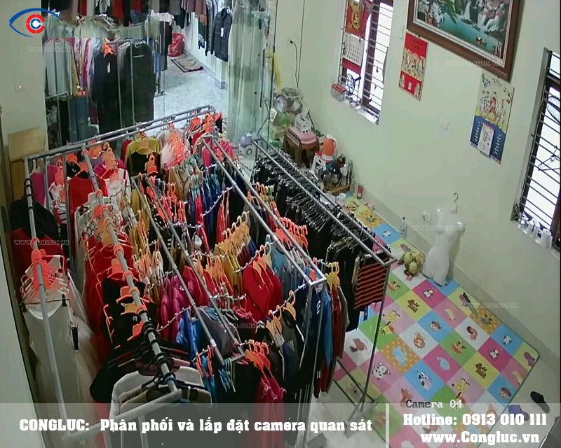 lắp camera cho shop thời trang tại An Dương Hải Phòng