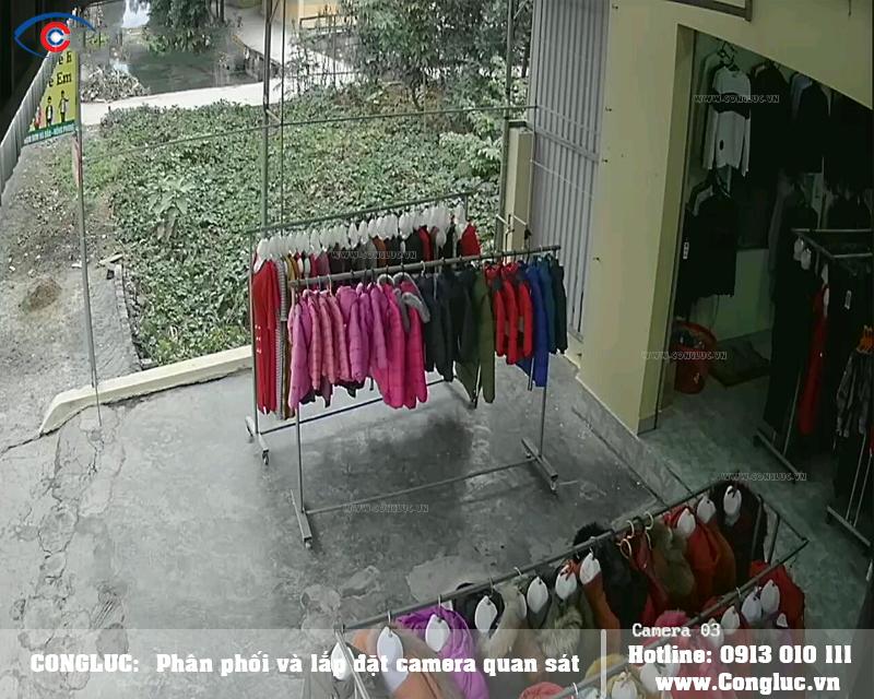lắp đặt camera giám sát cửa hàng quần áo tại An Dương Hải Phòng