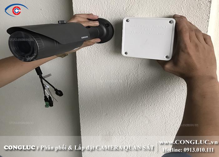 lắp camera quan sát samsung ip tại kho ngoại quan gemadept hải phòng