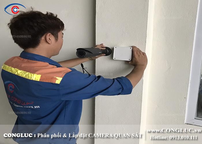 lắp đặt camera ip samsung tại kho ngoại quan Gemadept hải phòng