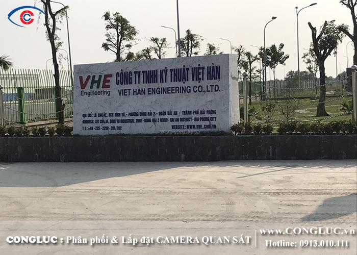 lắp đặt camera quan sát tại công ty Việt Hàn Hải Phòng