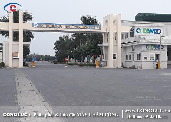 lắp máy chấm công tại khu nhà xưởng Hải Thành công ty Lê Bảo