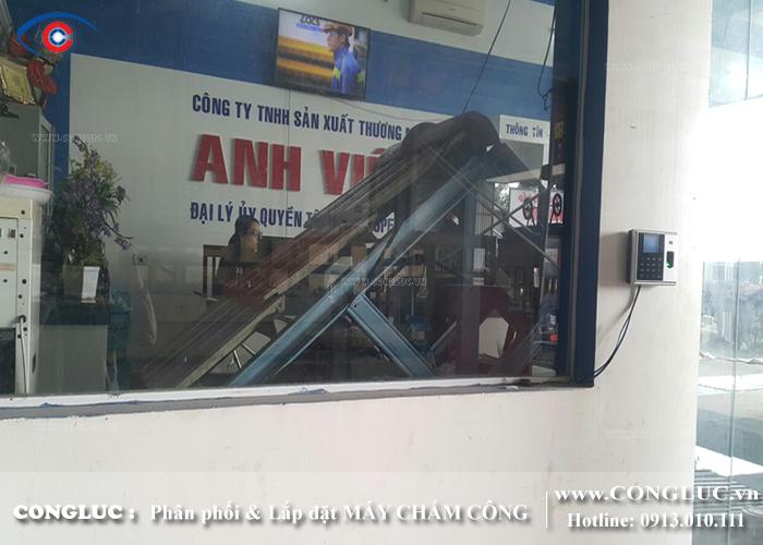 lắp máy chấm công tại Kiến An cho xưởng gỗ Hoàng Huy