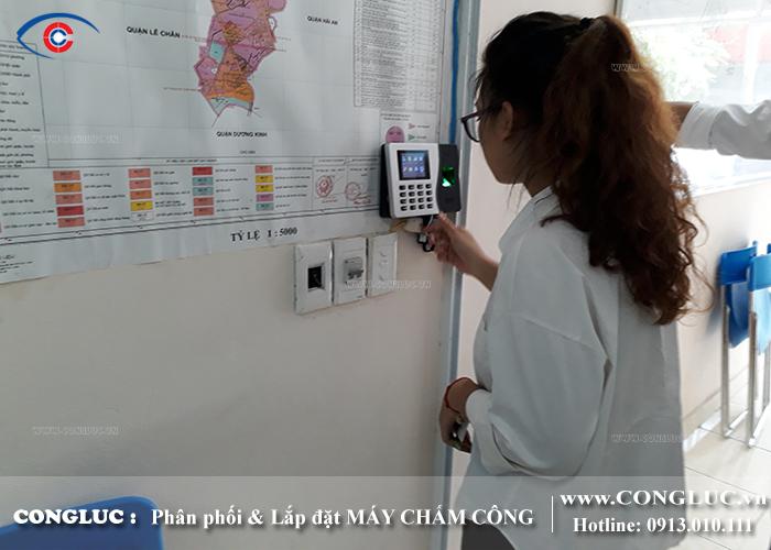 Lắp máy chấm công tại Lê Hồng Phong Hải Phòng