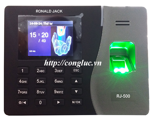 cung cấp máy chấm công ronald jack rj500id cho shop thời trang Rabity