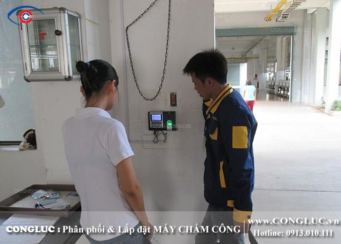 lắp máy chấm công ở cụm công nghiệp an tràng hải phòng