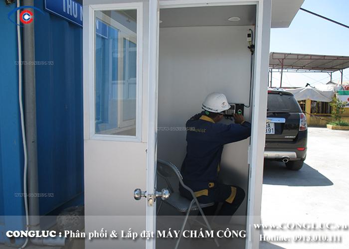 lắp máy chấm công tại quán trữ kiến an hải phòng
