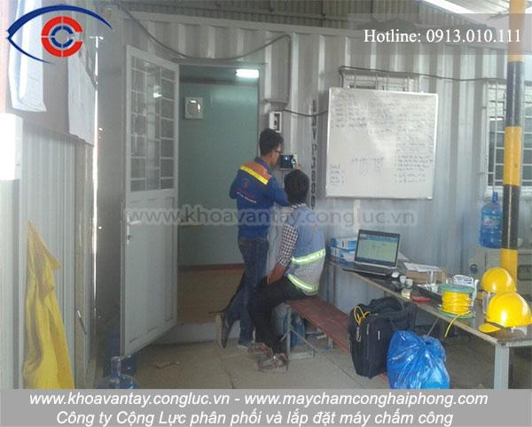 Lắp đặt máy chấm công tại KCN Đồ Sơn Hải Phòng