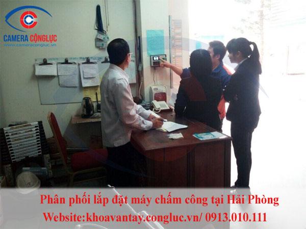 Lắp máy chấm công giá rẻ tại huyện thủy nguyên Hải Phòng