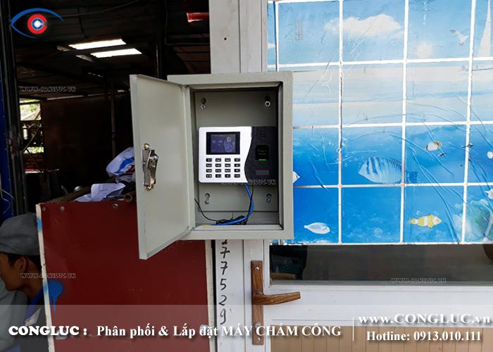 lắp đặt máy chấm công tại An Lão Hải Phòng cho xưởng tôn Vina