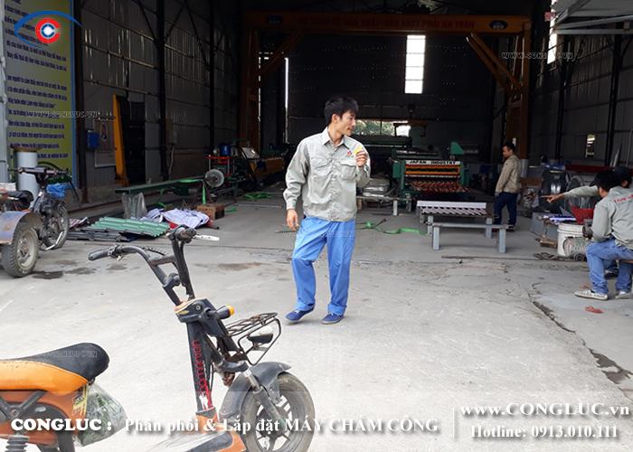 lắp máy chấm công cho xưởng tôn Vina tại An Lão Hải Phòng