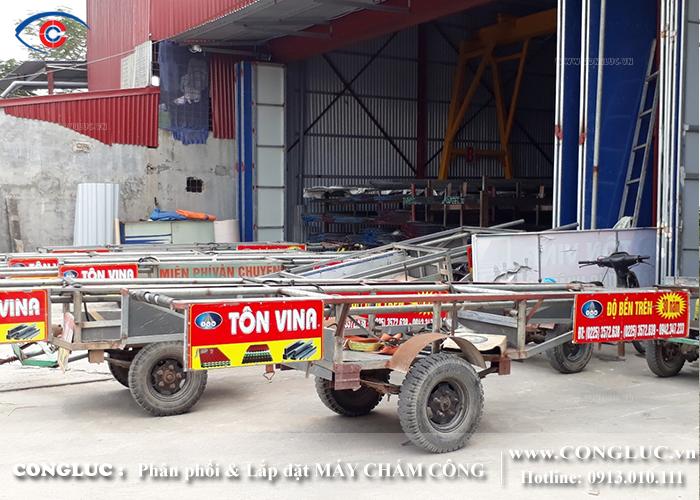 lắp máy chấm công tại An Lão cho xưởng tôn Vina