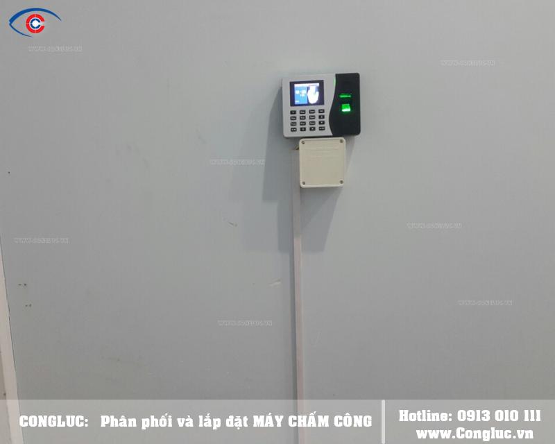 Lắp máy chấm công cho công ty Thiên Cung Travel