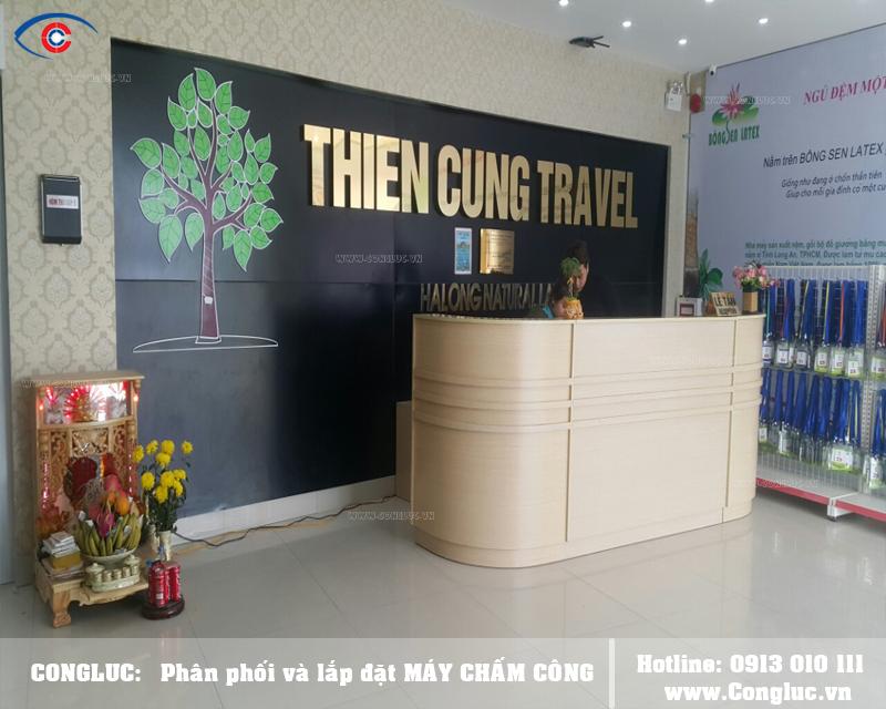 Lắp máy chấm công tại công ty Thiên Long Travel Quảng Ninh