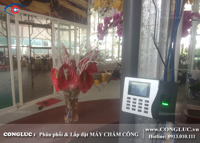 lắp máy chấm công cho nhà hàng vua hải sản tại Quảng Ninh