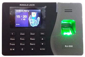 lắp máy chấm công ronald jack rj500id tại nhà hàng vua hải sản