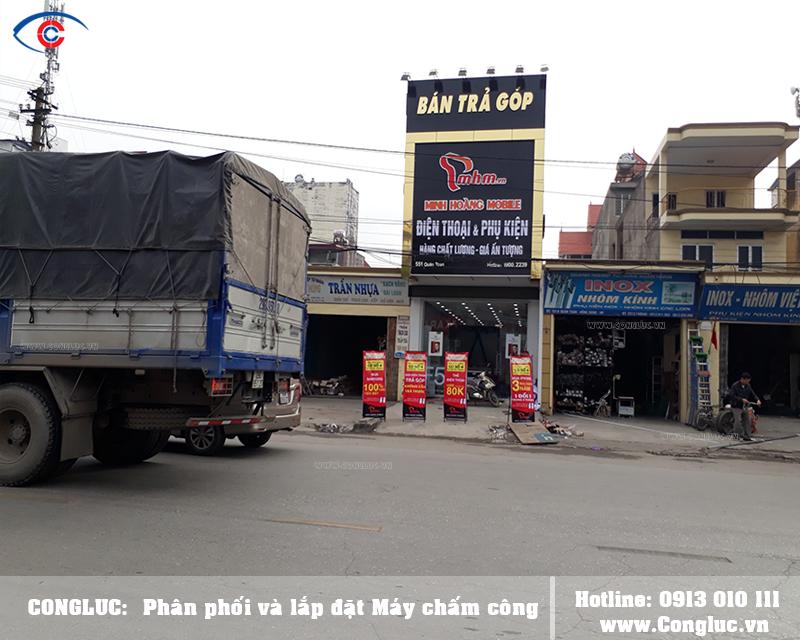 Lắp máy chấm công cho Minh Hoàng Mobile 551 Hùng Vương Hải Phòng