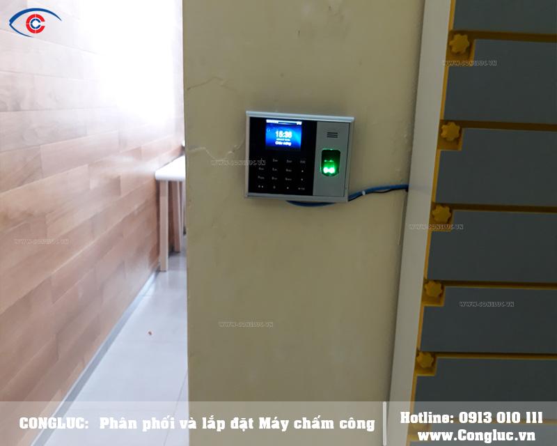 Lắp máy chấm công tại Quận Hồng Bàng cho Minh Hoàng Mobile