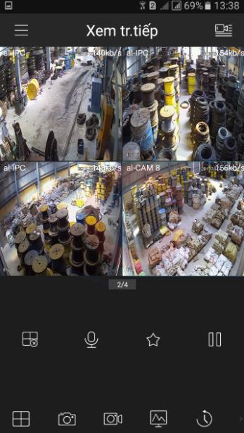 cách xem camera nhà xưởng trên điện thoại