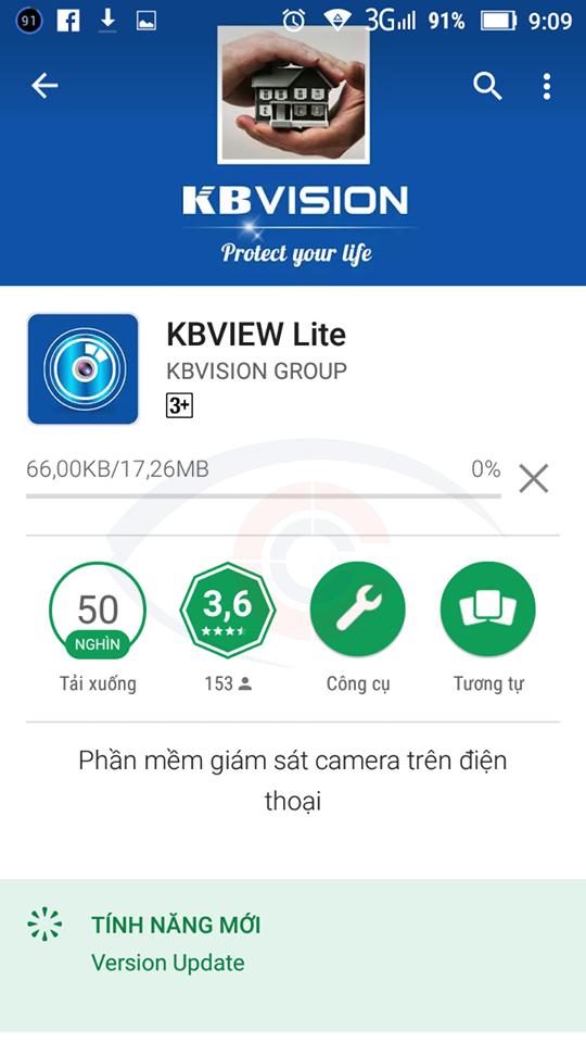 hướng dẫn cài phần mềm KBViewlite xem camera kbvision trên điện thoại
