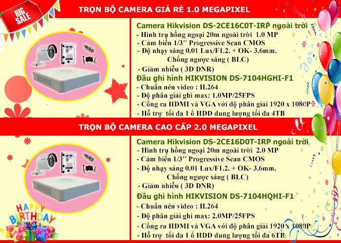 giảm giá trọn bộ camera hikvision mừng sinh nhật Cộng Lực 6 tuổi