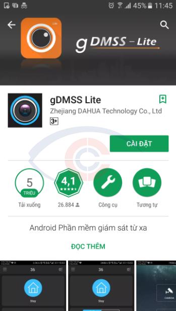 phần mềm gDMSS lite xem camera dahua trên di động